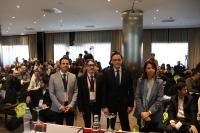 Domínguez, Sánchez, Gómez Villamados (rector de la UCO) y Moyano
